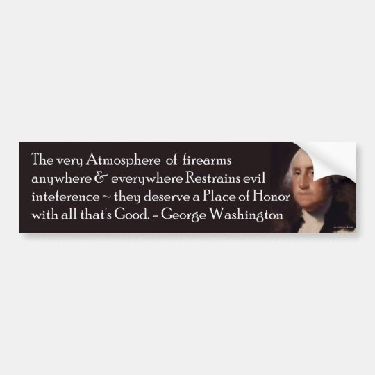 Washington quote on Firearms Bumpersticker Bumper Sticker
