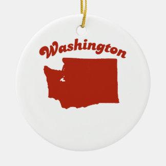 WASHINGTON Red State Christmas Ornament