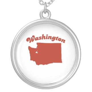 WASHINGTON Red State Personalized Necklace