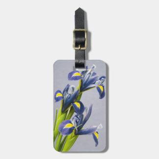 Washington, Redmond, Purple Irises Luggage Tag