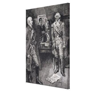 Washington Refusing a Dictatorship Canvas Print