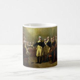 Washington Resigning his Commission John Trumbull Basic White Mug