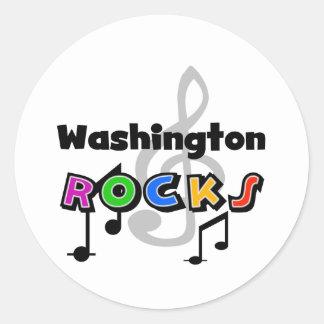 Washington Rocks Round Sticker
