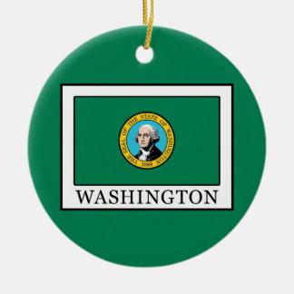 Washington Round Ceramic Decoration