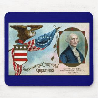 Washington s Birthday Greetings Mousepad