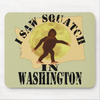 Washington Sasquatch Bigfoot Spotter - I Saw Him Mouse Pad