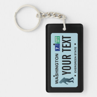Washington Sasquatch License Plate Key Ring
