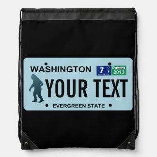 Washington Sasquatch License Plate Rucksacks