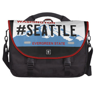 Washington Seattle license plate bag Laptop Shoulder Bag