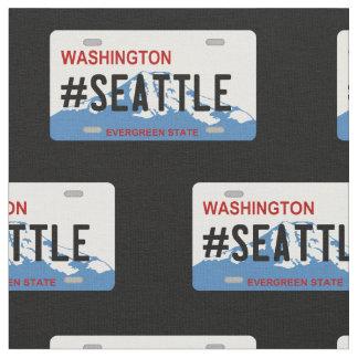 Washington Seattle license plate fabric