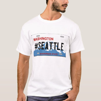 Washington Seattle license plate Tshirt