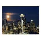 Washington, Seattle, Skyline at night from Kerry 1 Postcard