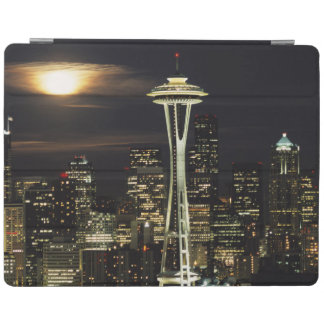 Washington, Seattle, Skyline at night from Kerry 2 iPad Cover