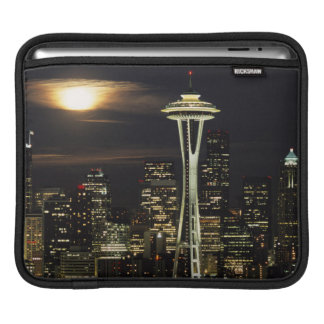 Washington, Seattle, Skyline at night from Kerry 2 iPad Sleeve