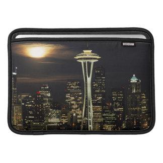 Washington, Seattle, Skyline at night from Kerry 2 MacBook Sleeves