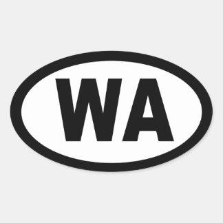 Washington - sheet of 4 oval car stickers