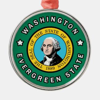 Washington Silver-Colored Round Decoration