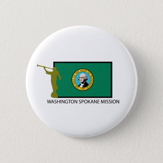 WASHINGTON SPOKANE MISSION LDS CTR 6 CM ROUND BADGE