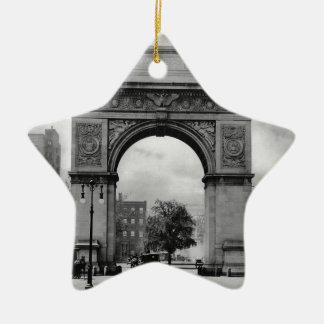 Washington Square Arch Ceramic Star Decoration