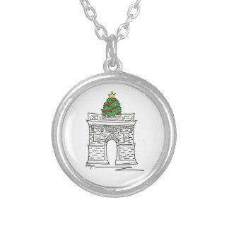Washington Square Arch NYC Christmas Tree Necklace