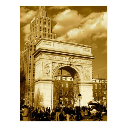 Washington Square Arch Postcard