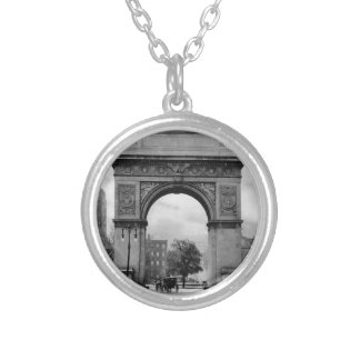 Washington Square Arch Round Pendant Necklace