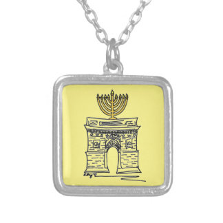 Washington Square NYC Menorah Hanukkah Necklace