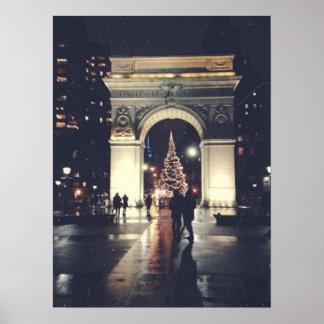 Washington Square Park at Christmas Poster