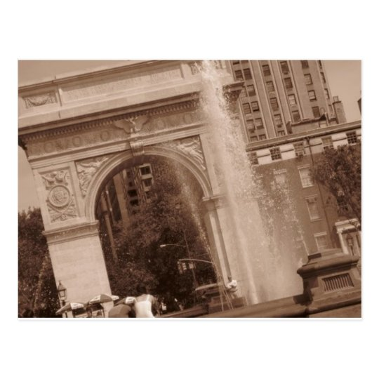 washington square park postcard