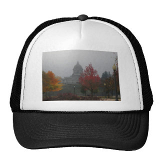 Washington State Capitol in Fog - photograph Hat