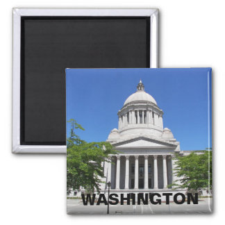 Washington State Capitol Travel Photo Magnet