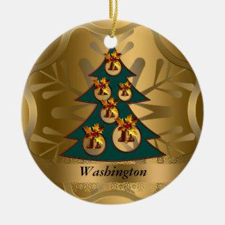 Washington State Christmas Ornament