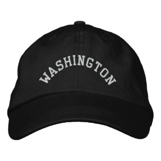 Washington State Embroidered Embroidered Baseball Cap