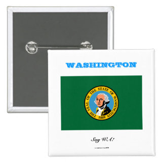 WASHINGTON state flag 15 Cm Square Badge