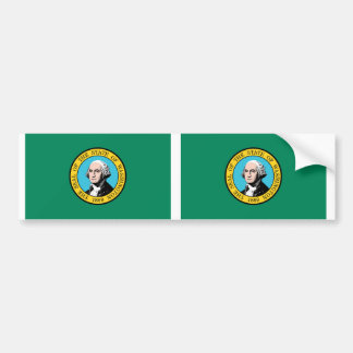 Washington State Flag Bumper Sticker