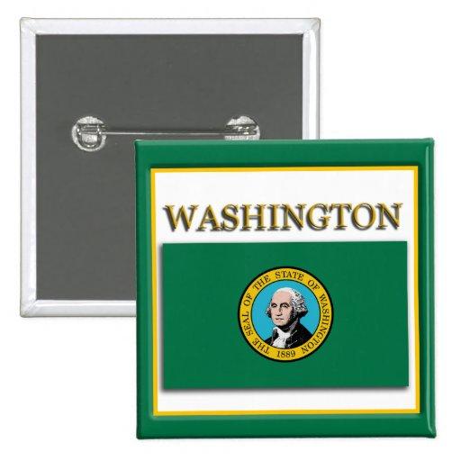 Washington State Flag Design Button