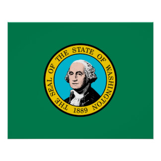 Washington State Flag Design Poster