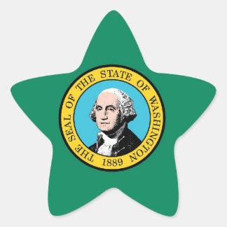 Washington State Flag Star Sticker