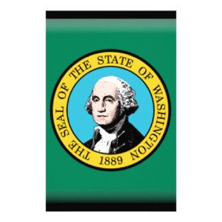 Washington state Flag Stationery Design