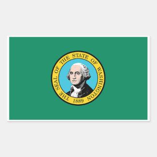 Washington State Flag Sticker - 4 per sheet