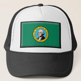 Washington State Flag Trucker Hat