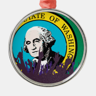 Washington State Flag with Audience Christmas Ornament