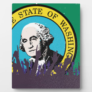 Washington State Flag with Audience Plaque