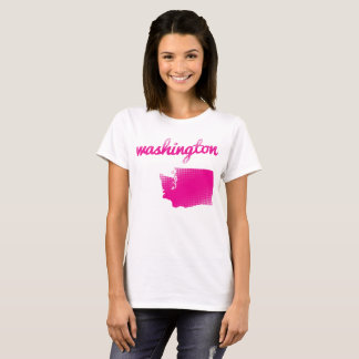 Washington State in pink T-Shirt