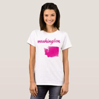 Washington State in pink T-Shirt