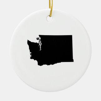 Washington State Outline Christmas Ornament