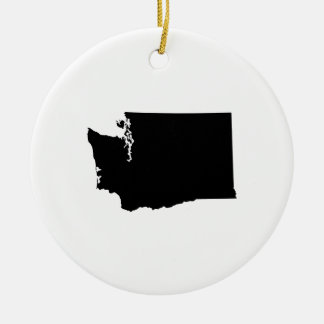 Washington State Outline Round Ceramic Decoration