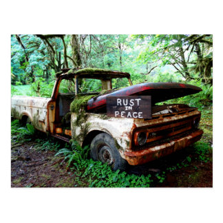Washington State Postcard: Rust in Peace Postcard