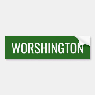 Washington State Pronunciation Bumper Sticker