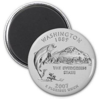 Washington State Quarter Magnet